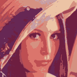 Lenna quantized to eight colors